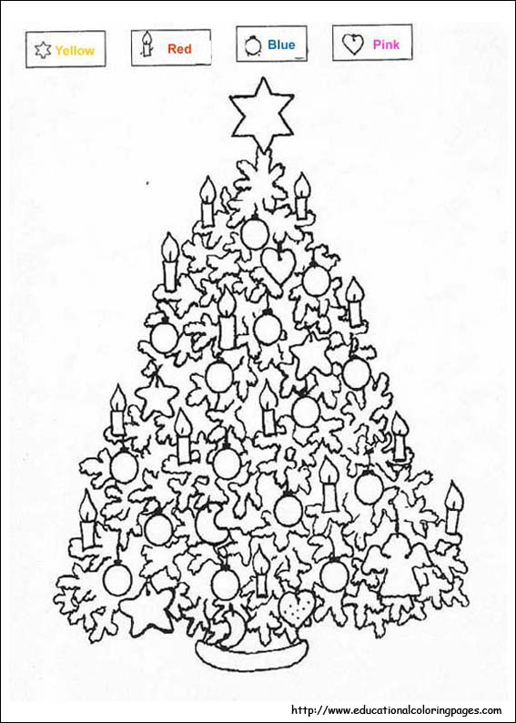 Christmas Coloring - Educational Fun Kids Coloring Pages and
