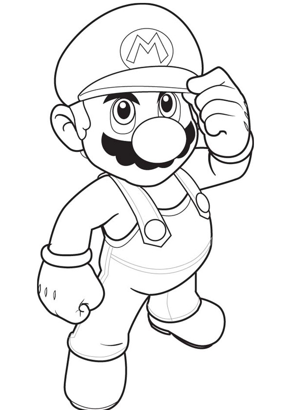 Super Mario Coloring Pages - Educational Fun Kids Coloring Pages and - mario coloring pages