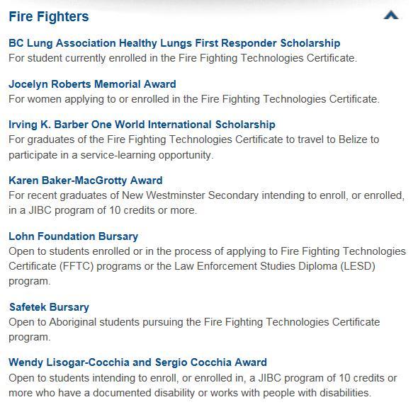 Information  Application Package jibcca/fire FSTCWCoursesFFTC - fire service application form