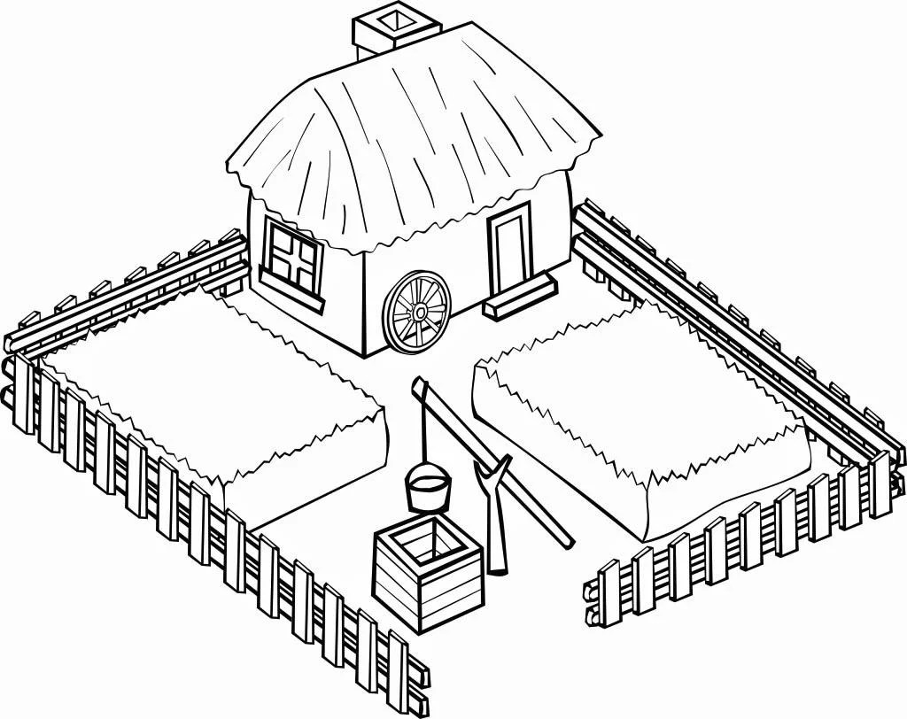 Barnyard Clipart Black And White Coloriage Ferme Img 16112