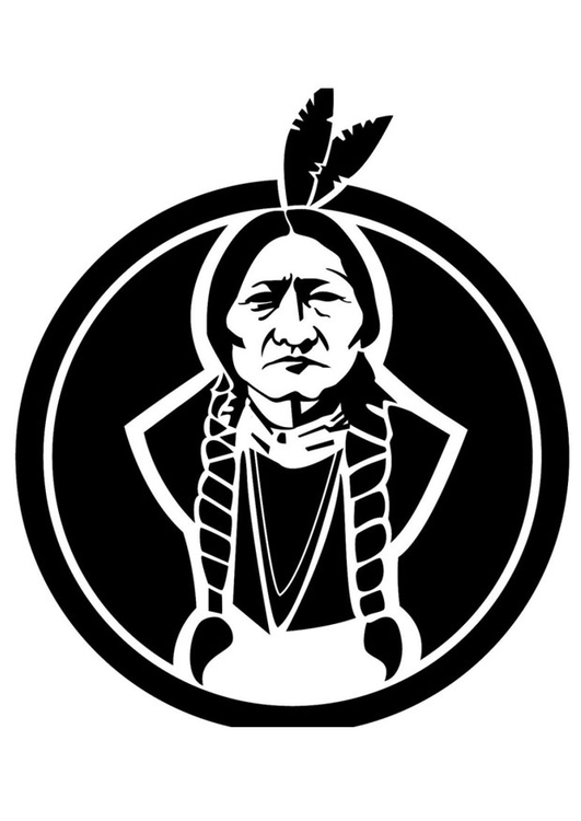 Tipi Kids Coloring Page Sitting Bull - Img 24753.