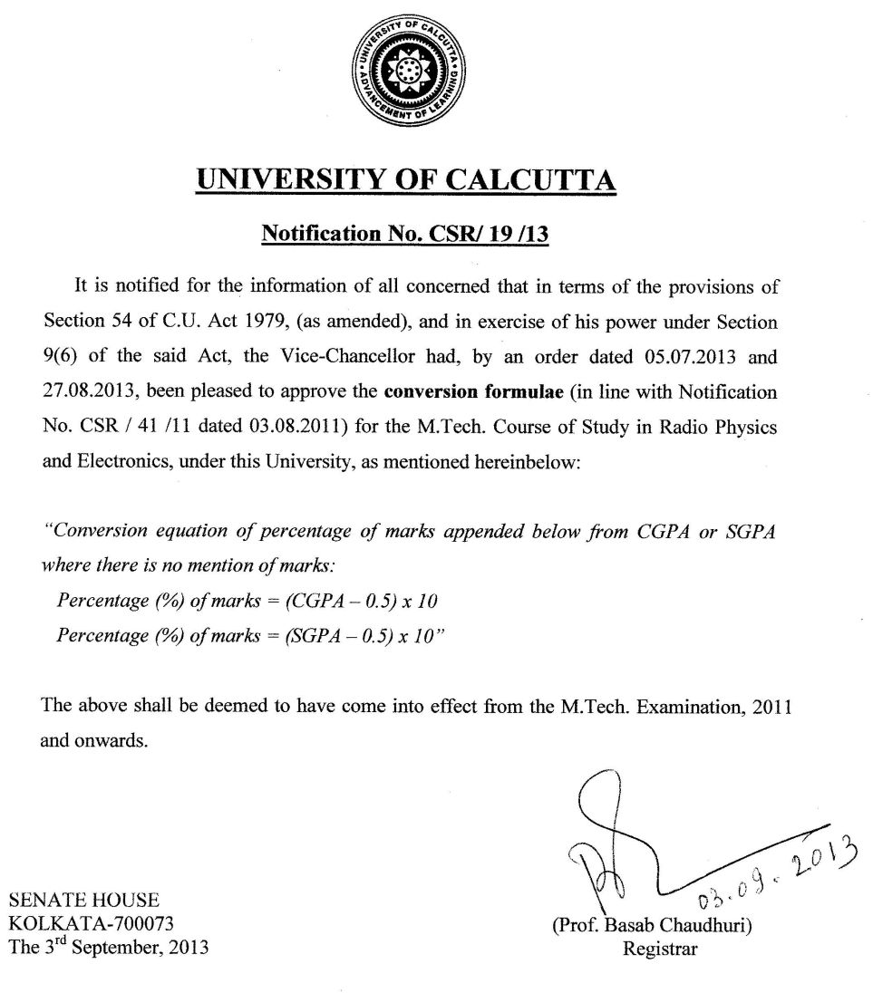 Calcutta University Cgpa Notification Download How To Calculate Gpa How To Calculate  Gpa How To Calculate