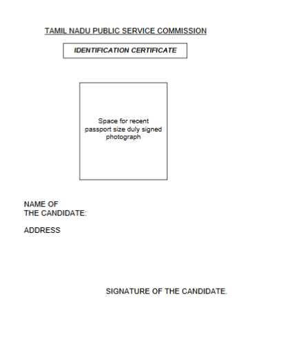 Identification Certificate Format In Tamilnadu - Best Design