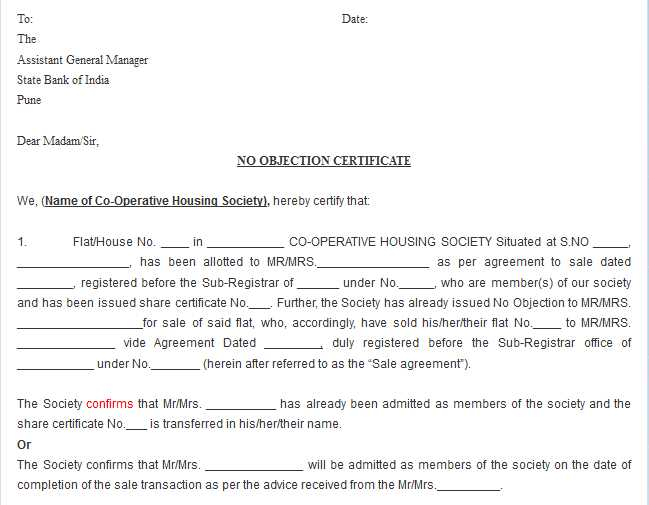 format of no objection certificate hitecauto - no objection format