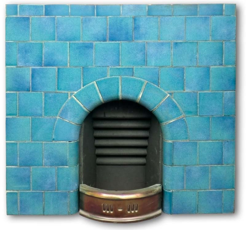 Mantel Height Edwardian Arched Tiled Fireplace Insert | Edwardian Fireplaces