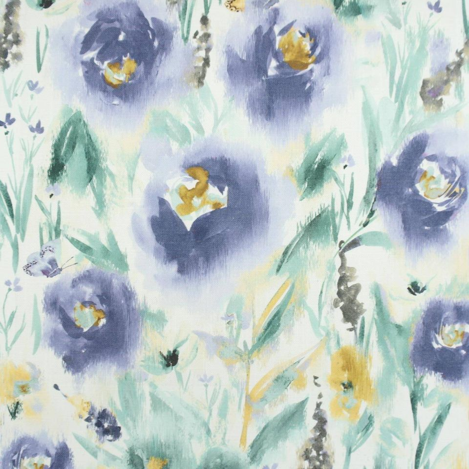 Fleur Jardin Fleur Denim Fabric Jardin Chess Designs