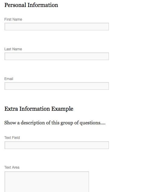 Custom Registration Forms - Event Espresso - WordPress Event - registration forms
