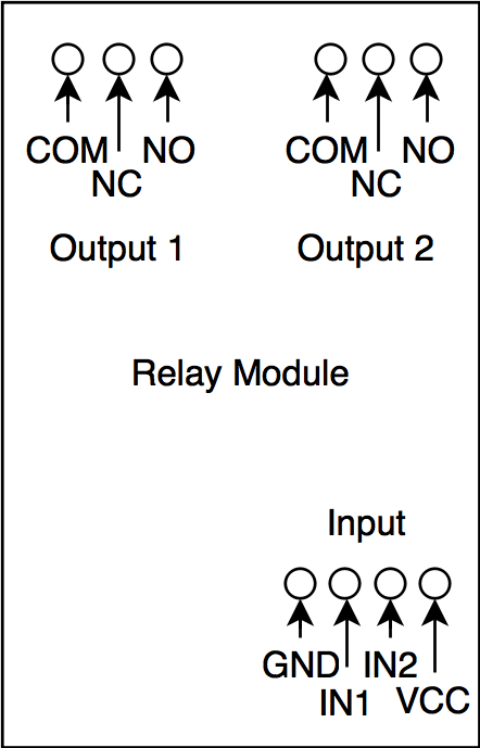 no nc relay diagram