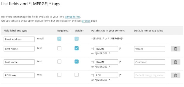 Use Merge Tags to Send Personalized Files Mailchimp - personalized e mail