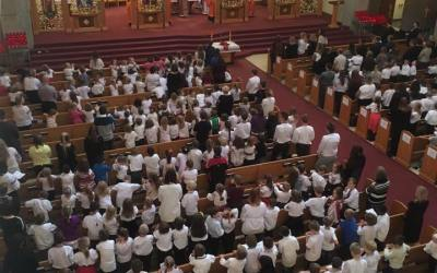 Photos: Opening Divine Liturgy for Ukrainian Bilingual Schools in Edmonton and Area – Sept 21, 2016