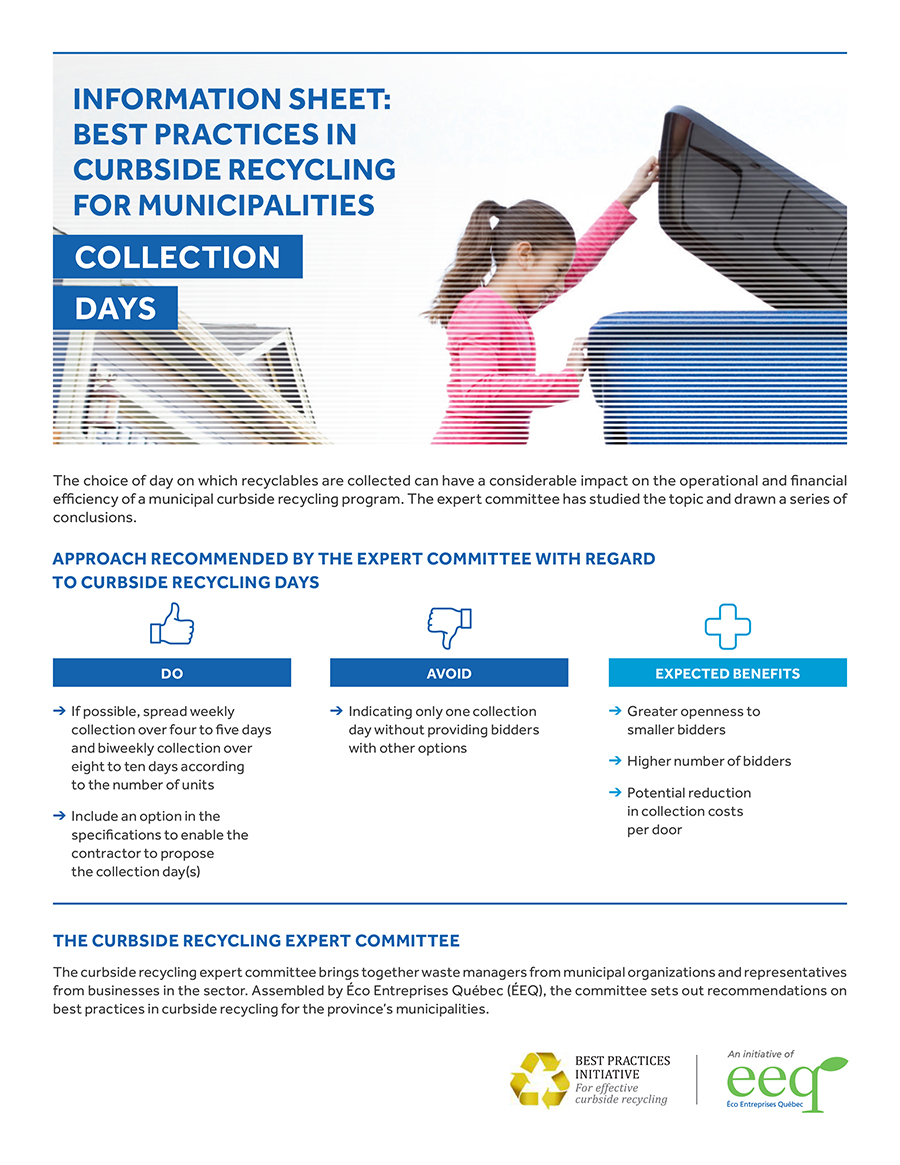 Meuble Aubaine Quebec Éeq Annual Report 2017 Curbside Recycling A Driving Force Of
