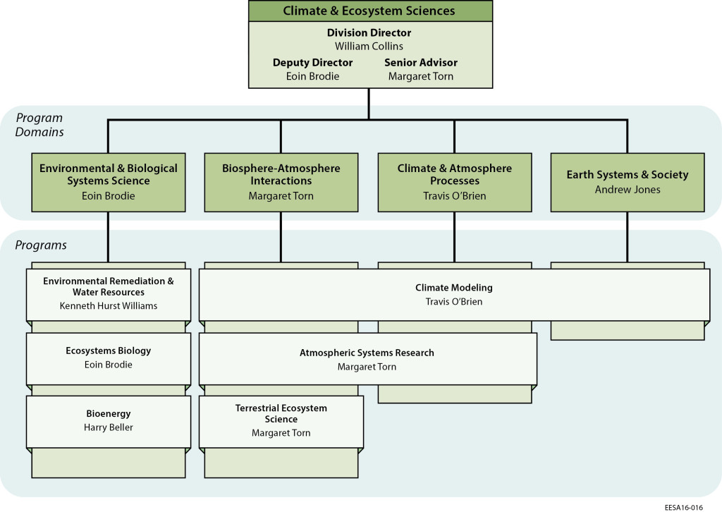Organizational Charts - Earth and Environmental Sciences Area - organizational chart