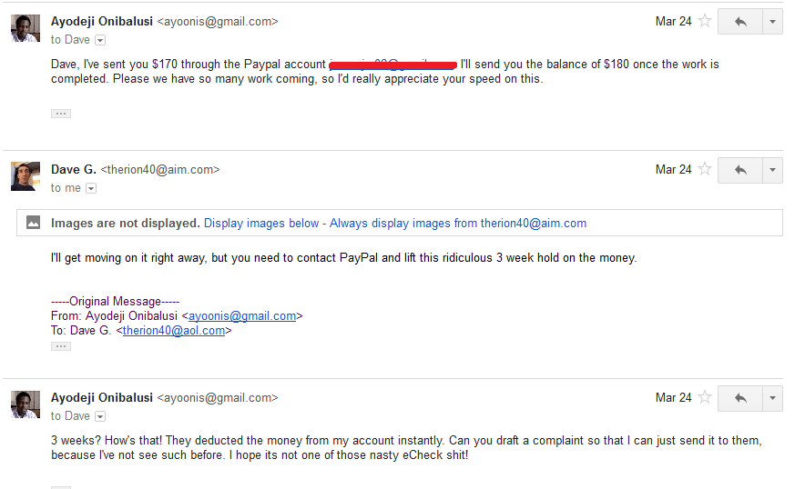 Discussion followed via email 2