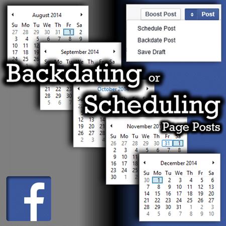 Facebook backdate or schedule posts