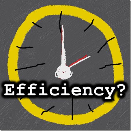 Is time saving efficiency