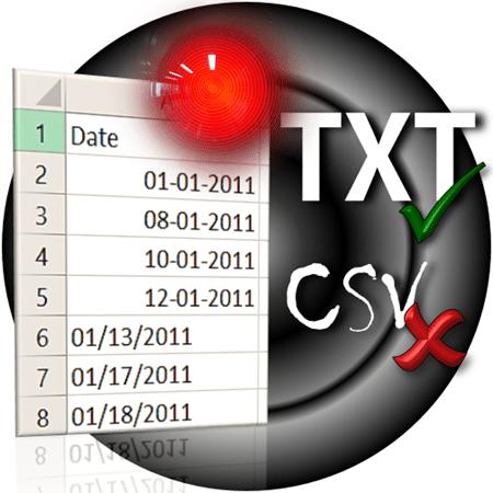 CSV import date problem
