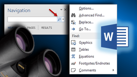 Finding in Word