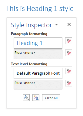 Word Style Inspector