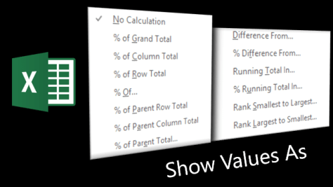 Show values as - Poster