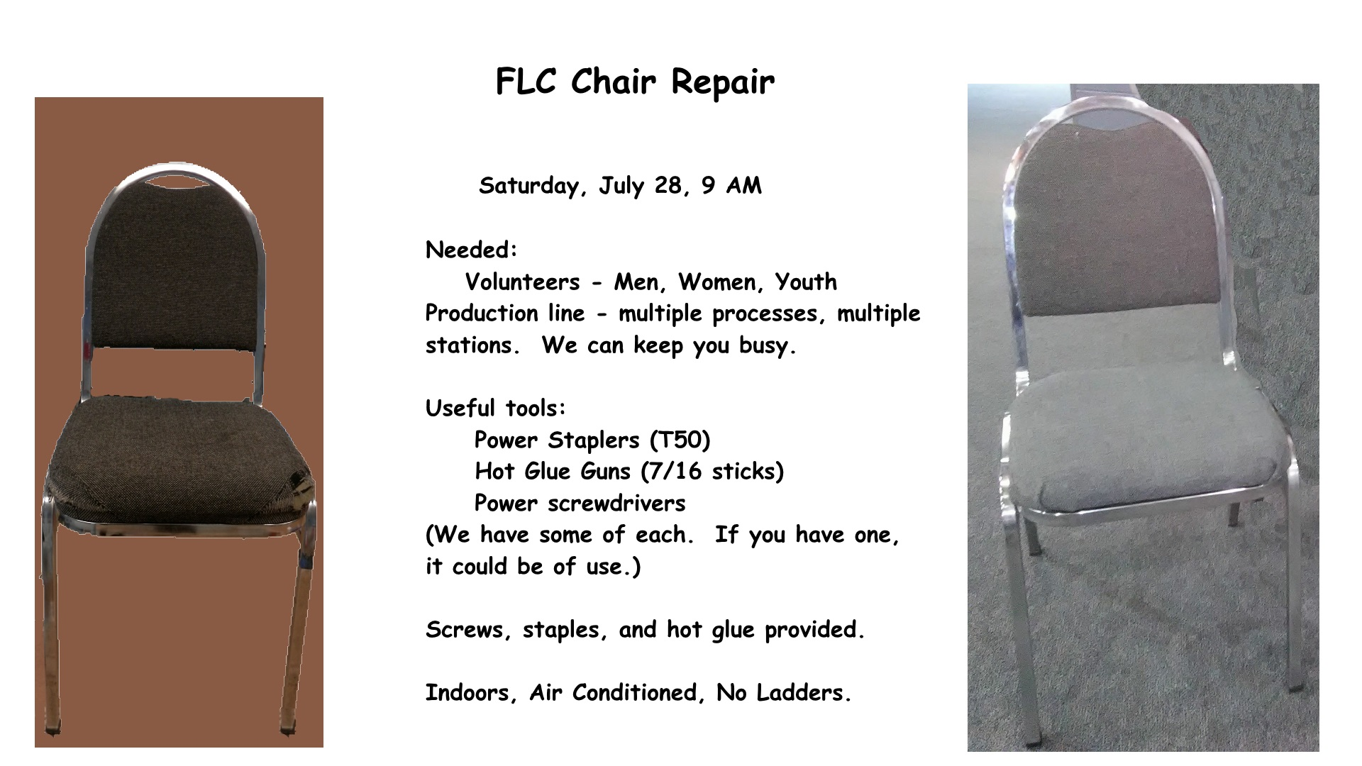 Chair Repair Flc Chair Repair Workday Effortchurch Org