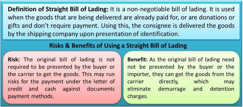Straight Bill of Lading Risks  Benefits of Using a Straight Bill