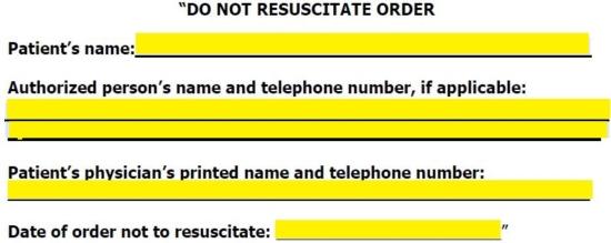 Free Georgia Do Not Resuscitate (DNR) Order Form - PDF eForms - do not resuscitate form