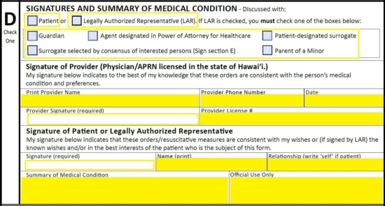 Free Hawaii Do Not Resuscitate (DNR) Order Form - PDF eForms