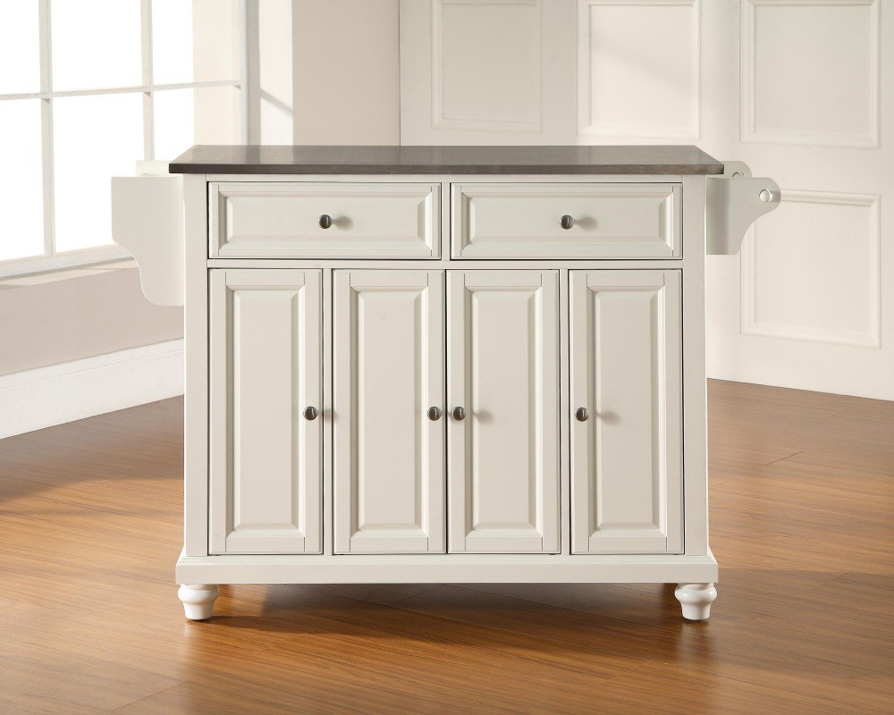 furniture cambridge stainless steel top kitchen island white furniture cambridge stainless steel top kitchen island white
