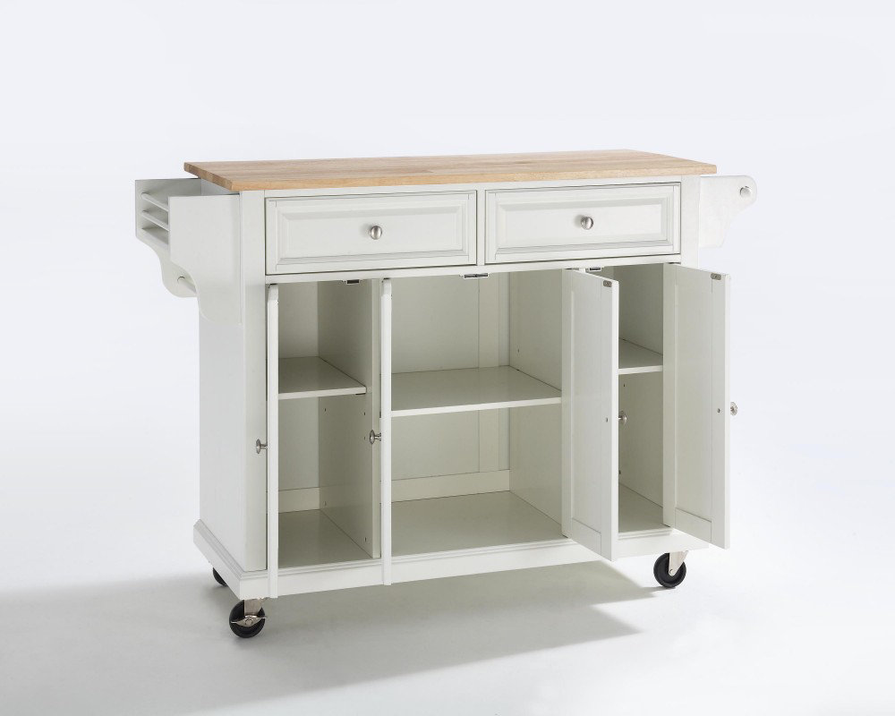 crosley furniture natural wood top kitchen cart island white kitchen island furniture kitchen islands pictures