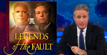 Jon Stewart Gets 'Legends of The Fault' McCain & Graham Attack On Susan Rice Just Right (VIDEO)