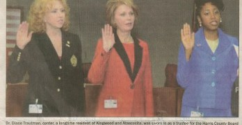KAD's Diane Trautman & Erica Lee Swearing In For Harris County Board Of Education Trustees