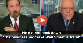 Bernie Sanders doesn't back down to Chuck Todd on his statement 'The business model of Wall Street is fraud' (VIDEO)
