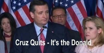 Ted Cruz drops out, Donald Trump the presumptive nominee (VIDEO)