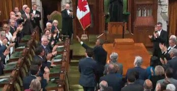 Entire Canadian Parliament chant 4 more years after Obama address (VIDEO)