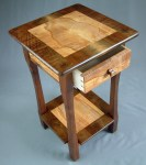 Maple and Walnut Lamp Table