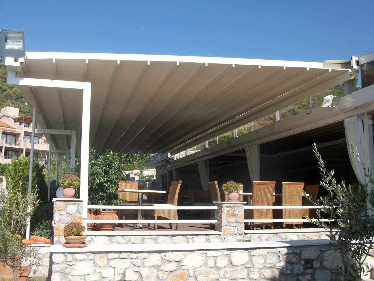 Pergola System Reopening Pergola System Τέντες Γιαννακάκης