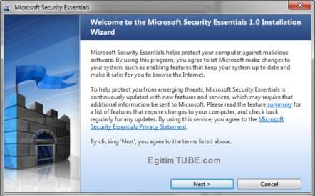 Windows 32 bit ve 64 bit virüs programı ücretsiz indir.