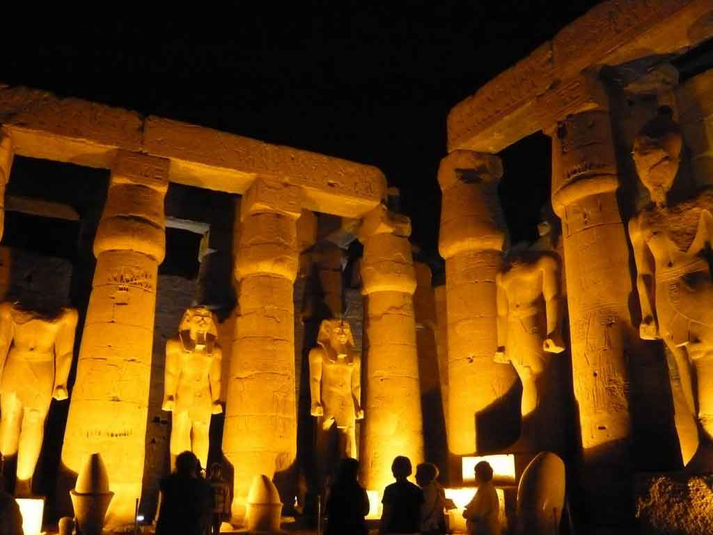 Lamp And Nightlight Sound And Light Show At Karnak Temple