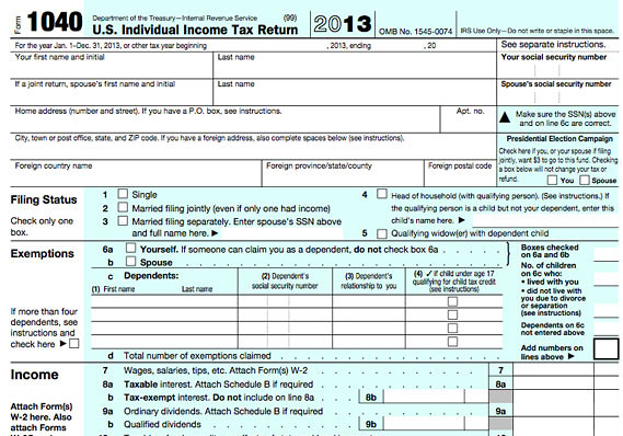 Irs 1040 Instructions 2014 Booklet Image Information