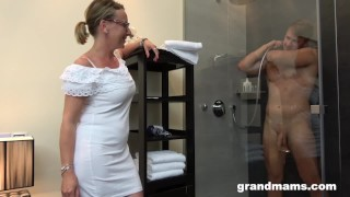 Twink's First Time with Gorgeous Grandma