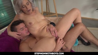 StepmomWithBoys - Sexy Stepmom Gets A Reward For Cleaning