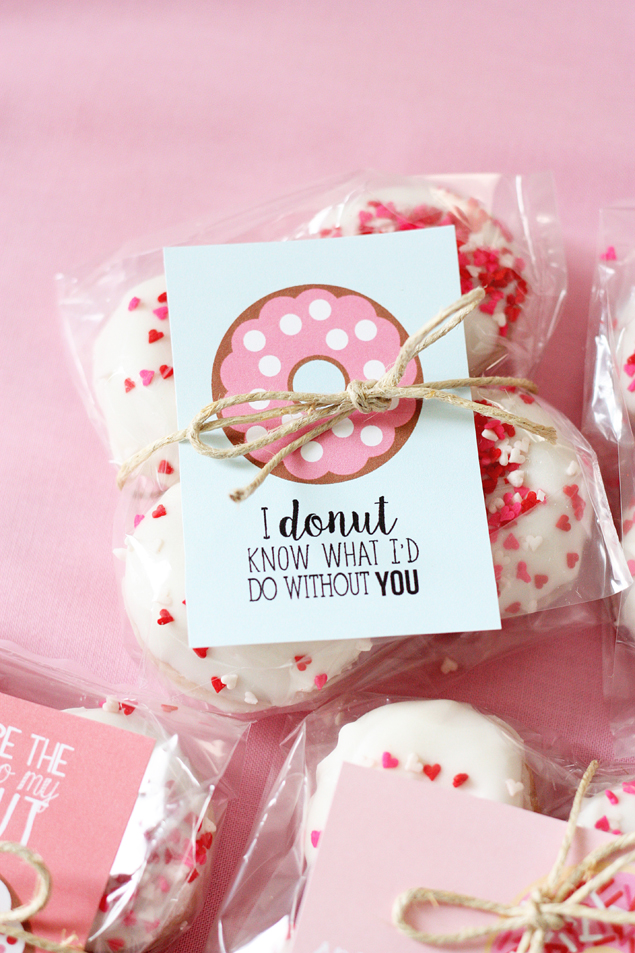 Valentine Donut Printables Donuts, Holidays and Gift - valentines day gifts