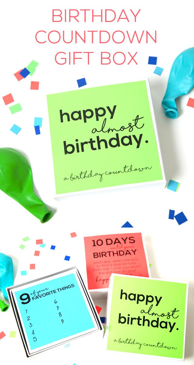 Free Birthday Printables - Eighteen25