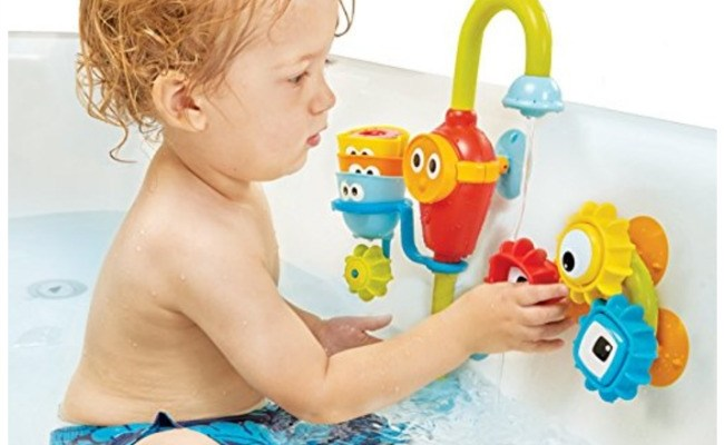 Yookidoo Baby Bath Toy Spin N Sort Spout Pro Eighty Mph