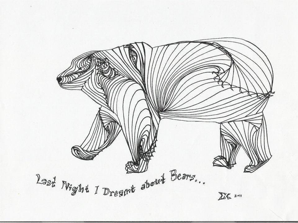 28 bear line drawing eileenkosasih - line drawing