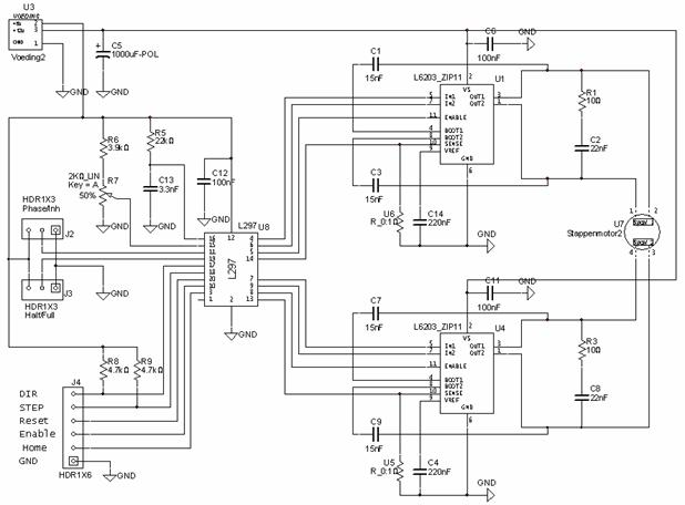 dc motor driver with l6203