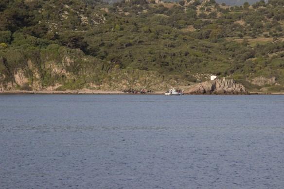 Flüchtlingsboot sicher am Ufer, einfachmalraus.net