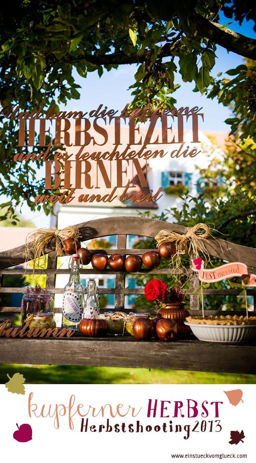 Herbsthochzeit, Hochzeitsdeko