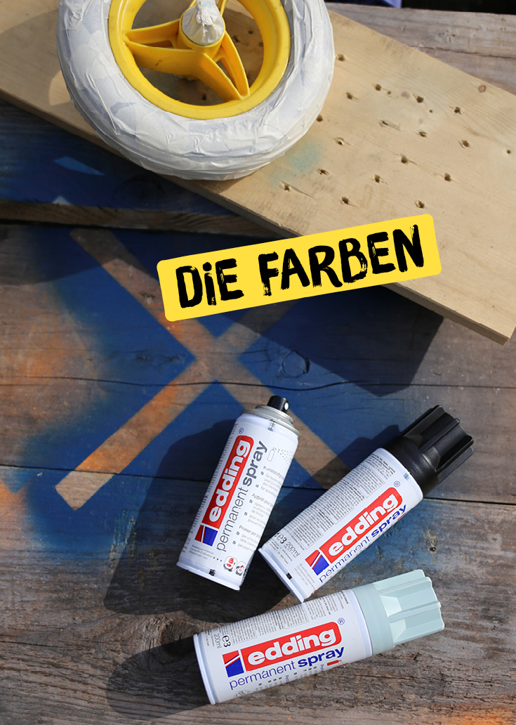 Kinderrad, Laufrad, Upcycling, Acryl-Spray, Spraydosen, DIY für Kinder, Edding Spray, Puky
