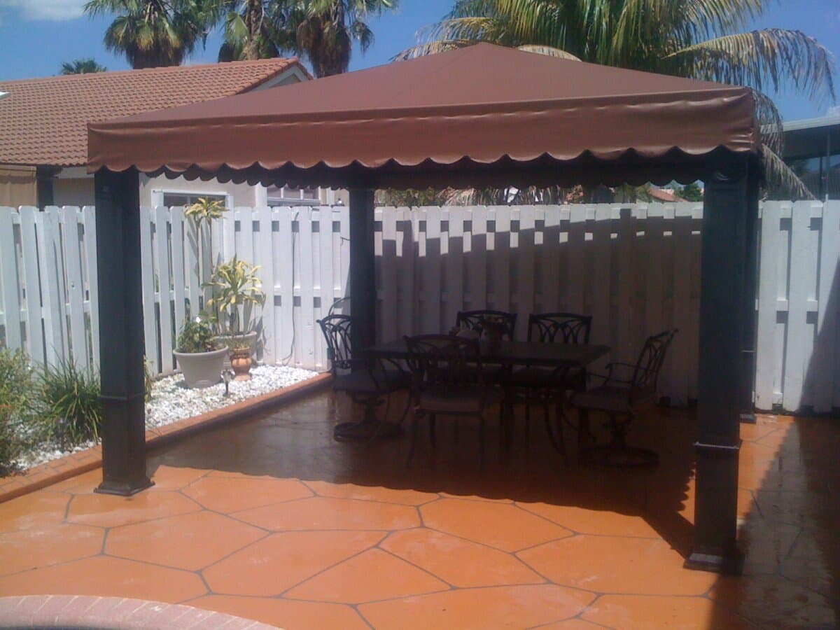 Gazebo Awning Gazebo Awnings E Andj Tropical Awnings Outlet Inc